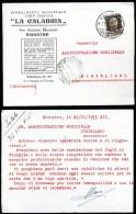 """NICASTRO - LAMEZIA TERME - 1933 - STABILIMENTO ARTI GRAFICHE  """" LA CALABRIA"""" - Lamezia Terme"""