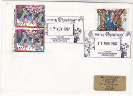 1987 GB CHRISTMAS TELECOM  EVENT COVER Pmk PEOPLE TALKING ON TELEPHONE From TELECOM TECHNOLOGY SHOWCASE Stamps - Telecom