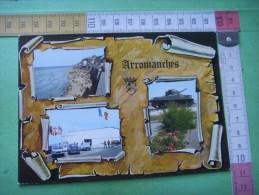 147 ) 6 Juin 1944 : Arromanches  : Gold Beach :la Plage , Pontons :musee Courseules: Le Char  : Recto , Verso  : - Arromanches