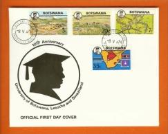 BOTSWANA, 1974, MNH F.D.C., University, Nr(s) 106-109, F3136 - Botswana (1966-...)
