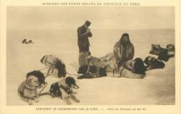 Missions Des Pères Oblats En Amérique Du Nord - Campement De Missionnaires Sur La Glace - Territoires Du Nord-Ouest