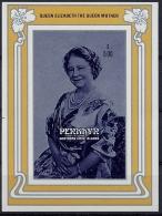 Penrhyn, 1985, 85th Birthday Of Queen Elizabeth, MNH Imperforated Souvenir Sheet, Michel Block 66 - Case Reali