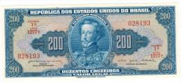 Brazil 200 Cruzeiros. P-171b. UNC - Brazil