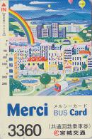 Carte Prépayée Japon - Jeu - Ballon & Arc En Ciel - BALLOON & RAINBOW JAPAN Prepaid Bus Card - 174 - Jeux