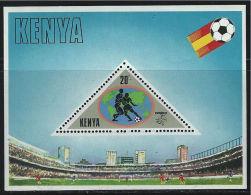 Kenya, 1982, Soccer World Cup Spain, MNH Perforated Souvenir Sheet, Michel Block 18 - World Cup