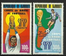 Djibouti, 1982, Soccer World Cup Argentina, MNH Perforated Set, Michel 220-221 - World Cup