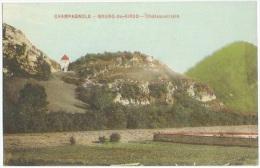 CHAMPAGNOLE - BOURG DE SIROD Chateau Vilain Rare Cp  Colorisée Simi Aquarelle  Jura Cpa - Andere Gemeenten