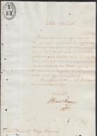 *BE409 CUBA SPAIN ESPAÑA CAPTAIN GENERAL 1830. FRANCISCO VIVES SIGNED DOC - Autographs