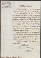 *BE413 CUBA SPAIN ESPAÑA CAPTAIN GENERAL 1841. GERONIMO VALDES SIGNED DOC - Autographs