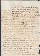 *BE415 CUBA SPAIN ESPAÑA CAPTAIN GENERAL 1849. FRANCISCO RONCALY SIGNED DOC - Autographs