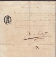 *BE417 CUBA SPAIN ESPAÑA CAPTAIN GENERAL 1854. JOSE GUTIERREZ CONCHA SIGNED DOC - Autographs