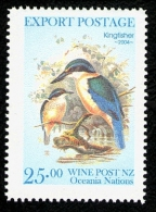 New Zealand Wine Post Kingfisher Endemic Bird Of New Zealand. - New Zealand
