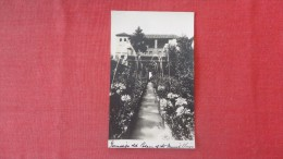 Alhambra Granada Andalusia Spain----. Alcazar Moorish Palace Gardens   RPPC     --------     --------ref 1886 - Granada