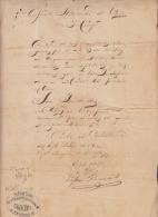 *BE435 CUBA INDEPENDENCE WAR GENERAL DE DIVISION LOPE RECIO SIGNED DOC 1896 - Autographs