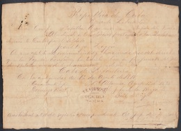 *BE438 CUBA INDEPENDENCE WAR GENERAL DE BRIGADA ARMANDO SANCHEZ AGRAMONTE 1898 - Autographs