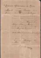 *BE441 CUBA INDEPENDENCE WAR CORONEL RAIMUNDO MATILDE ORTEGA SIGNED DOC 1899 - Autographs