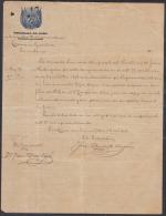 *BE443 CUBA INDEPENDENCE WAR CORONEL FRANCISCO DIAZ VIVO SIGNED DOC 1898 - Autographs