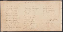 *BE444 CUBA AUTOGRAPH MEDICINE POEMA DEL DOCTOR JOAQUIN ALBARRAN, BARCELONA 1873 - Autographs