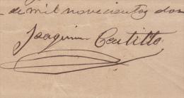 *BE459 CUBA INDEPENDENCE WAR GENERAL DE DIVISION JOAQUIN CASTILLO LOPEZ 1902 - Autographs
