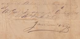 *BE466 CUBA INDEPENDENCE WAR MAYOR GENERAL JAVIER DE LA VEGA 1896 - Autographs