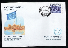 Oceania Nations Blue Flag On FDC. - New Zealand