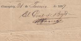 *BE470 CUBA INDEPENDENCE WAR GERNAL DE BRIGADA MAXIMILANO RIOS GONZALEZ 1899 - Autographs
