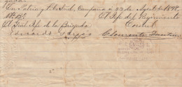 *BE477 CUBA INDEPENDENCE WAR GENERAL DE DIVISION EDUARDO GARCIA + C. DANTIN 1898 - Autographs