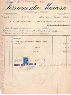 FERRAMENTA MARCORA-GALLARATE--9-11-1931-FATTURA - 1900-44 Vittorio Emanuele III