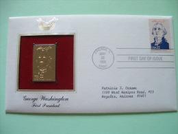USA 1986 FDC Cover Presidents Gold Replica 23K - Washington - Etats-Unis