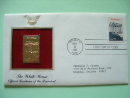 USA 1986 FDC Cover Presidents Gold Replica 23K - White House - Eagle Arms - Etats-Unis