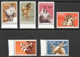 Belgique - 1182/87 ** Animaux Zoo D´Anvers - Belgium