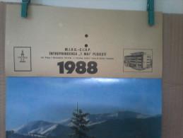 Romanian Big Old Calendar - 1988 - 1 Mai Ploiesti Factory - Calendriers
