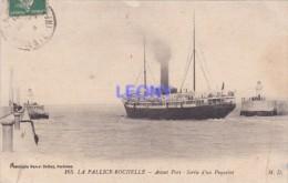 CPA De LA PALLICE- ROCHELLE   (17) - AVANT PORT - Sortie D'un PAQUEBOT - M.D. N° 165 -1916 - La Rochelle