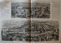 Projet De Viaduc à établir Au-dessus Du Cimetière Du Nord - Auvers - Page Original  1868 - Documenti Storici