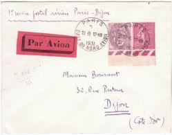 17.8.1931 - 1er Service Postal Aérien PARIS-DIJON   ( Muller 243) - Poste Aérienne