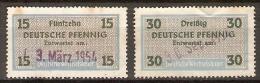 ALLEMAGNE    -    1954.    FISCAUX     -      Oblitérés - [7] Federal Republic