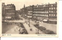 LILLE   Place De La Gare Et Rue Faidherbe ,  Grande Pharmacie De Paris - Lille
