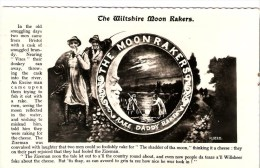 The LEGEND Of THE WILTSHIRE MOON RAKERS  OLD RAEL PHOTO POSTCARD  USED - Folklore