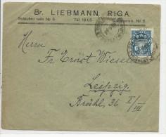 LETTONIE - 1932 - ENVELOPPE COMMERCIALE De RIGA Pour LEIPZIG - Lettonie