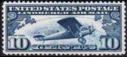 ETATS-UNIS USA Air Mail 10 * MLH Le Spirit Of Saint Louis De Charles Lindbergh (bord De Feuille) - Air Mail