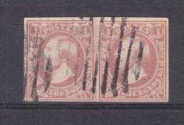 Luxembourg - Yvert 2 oblit�r� - en paire - sign� Brun et Demuth - valeur 340 euros ( 220 + 120 )