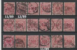 Deutsches Reich 1889 - Obl. Michel  47 X 18 -