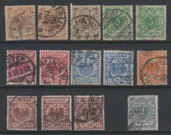 Deutsches Reich 1889 - Obl. Michel  45-50, & 52 -