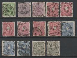 Deutsches Reich 1880 - Obl. Michel  39,40,41,42, 44 -