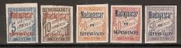 Madagascar Taxe N°  1 à 4 +  6 Neufs Avec Charnière TB - Unused Stamps