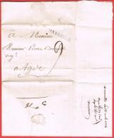 MARSEILLE Pour Agde 1784  Marque Postale Linéaire - 1701-1800: Precursors XVIII