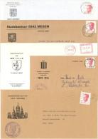 Un Lot De 5 Enveloppes Et Marques Postales Concernant Les Blasons - Enveloppes