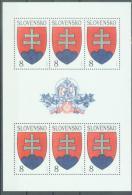 SK 1993-1623 ARMS, SLOVAKIA, MS, MNH - Briefmarken