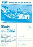 QSL-Karte Traun CB-Station Mady Thiel 1979 Motorradgespann Seitenwagen Beiwagen Card Carte Motorrad Motor Bike Funkkarte - QSL-Karten