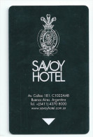 HOTEL SAVOY BUENOS AIRES ARGENTINA   Llave Clef Key Keycard Karte - Hotel Labels